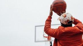 shooting basketball