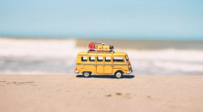 bus on beach